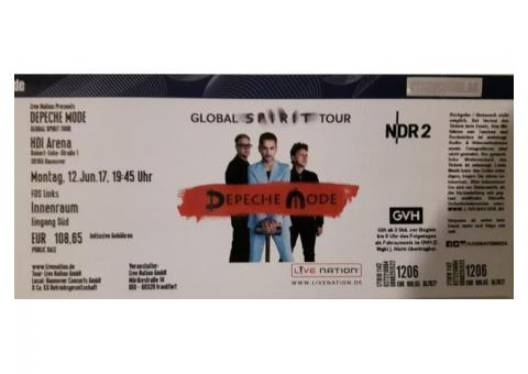 1 x DEPECHE MODE - am 12. Juni in Hannover - Front of Stage links